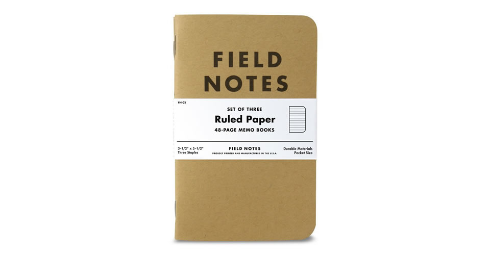 Field Notes Kraft Ruled 3-Pack Christmas Gift for Photographers