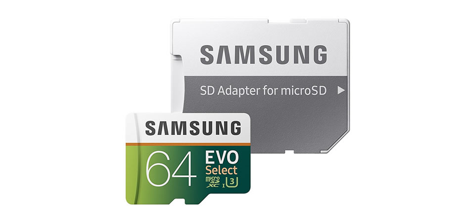 Samsung 64GB EVO Select Micro SDXC Memory Card Christmas Gift for Photographers